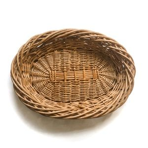 Small Oval Wicker Woven Tray Basket